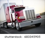 generic semi truck hauling...   Shutterstock . vector #683345905