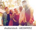 summer holidays  reunion ... | Shutterstock . vector #683349052