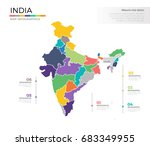 india country map infographic... | Shutterstock .eps vector #683349955