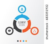 hr icons set. collection of... | Shutterstock .eps vector #683351932