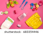 baby care accessories and... | Shutterstock . vector #683354446
