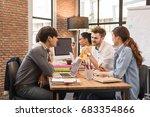 group of five multi generation... | Shutterstock . vector #683354866