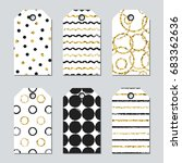 gift tags and cards set with... | Shutterstock .eps vector #683362636