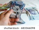 hands counting saudi arabia... | Shutterstock . vector #683366098