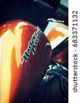 italy august 2014   harley... | Shutterstock . vector #683371132