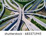 hi above highways and... | Shutterstock . vector #683371945