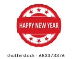 happy new year rubber stamp.... | Shutterstock .eps vector #683373376