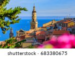 Old Town Of Menton On The...