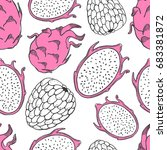 seamless nature pattern with... | Shutterstock .eps vector #683381872
