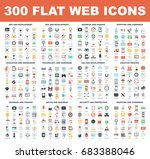 300 flat web icons   seo and... | Shutterstock .eps vector #683388046