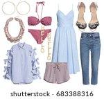 set of stylish clothes