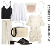 set of stylish clothes ...   Shutterstock . vector #683388325