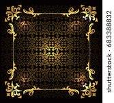 luxury floral frame design   Shutterstock .eps vector #683388832