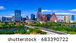 austin texas skyline during mid ... | Shutterstock . vector #683390722