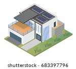 modern luxury isometric green... | Shutterstock .eps vector #683397796