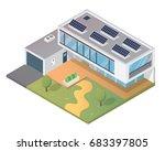 modern luxury isometric green... | Shutterstock .eps vector #683397805