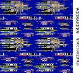 glitch pattern. computer screen ... | Shutterstock .eps vector #683398006