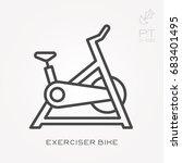 line icon exerciser bike   Shutterstock .eps vector #683401495