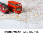 travelling abroad background.... | Shutterstock . vector #683402746