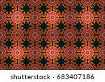 Colored Mandala. Raster...