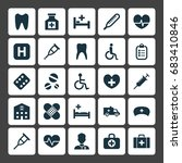 drug icons set. collection of... | Shutterstock .eps vector #683410846