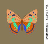 colorful icon of butterfly... | Shutterstock .eps vector #683414746