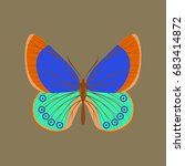 colorful icon of butterfly... | Shutterstock .eps vector #683414872