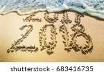 new year 2018 is coming concept.... | Shutterstock . vector #683416735