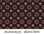 raster round ornament pattern.... | Shutterstock . vector #683417845