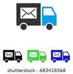 mail delivery van vector... | Shutterstock .eps vector #683418568