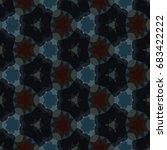 hexagonal symmetry vector... | Shutterstock .eps vector #683422222