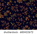 seamless pattern leaf red...   Shutterstock .eps vector #683422672