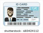 id card. flat design style. | Shutterstock .eps vector #683424112