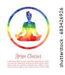 vector template yoga classes in ... | Shutterstock .eps vector #683426926