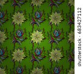 vector floral illustration in... | Shutterstock .eps vector #683427112