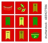 assembly flat icons halloween... | Shutterstock .eps vector #683427586