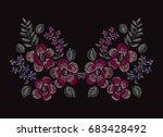 elegant hand drawn decoration... | Shutterstock .eps vector #683428492