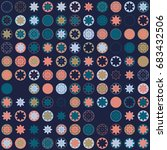 seamless geometric pattern with ... | Shutterstock .eps vector #683432506