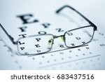 close up view of glasses on a... | Shutterstock . vector #683437516