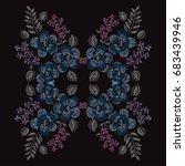 elegant hand drawn decoration...   Shutterstock .eps vector #683439946