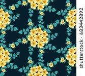 seamless floral pattern.... | Shutterstock .eps vector #683442892
