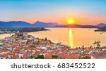 sunset on poros island in... | Shutterstock . vector #683452522