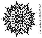 indian hand drawn mandala.... | Shutterstock .eps vector #683455066