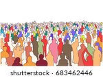 illustration of large mass of... | Shutterstock .eps vector #683462446
