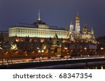 moscow kremlin and moscow river ... | Shutterstock . vector #68347354