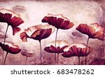 painting poppies canvas | Shutterstock . vector #683478262