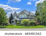 custom built luxury house in... | Shutterstock . vector #683481562