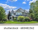 custom built luxury house in...   Shutterstock . vector #683481562