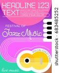jazz music festival poster... | Shutterstock .eps vector #683485252