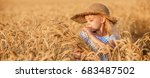 Happy Child In Autumn Wheat...